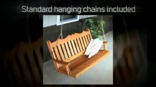 Al Furniture Co. Royal English Red Cedar Porch Swing - 412c,