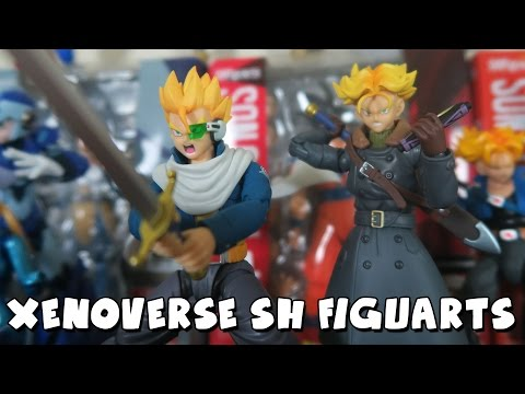 AMAZING DRAGON BALL XENOVERSE FIGURES!   SH Figuarts Xeno Trunks & Time Patroller Unboxing/Review