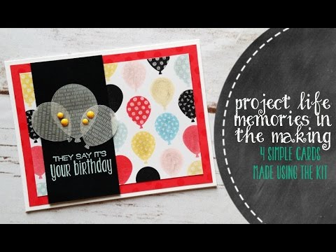 How To Create Greeting Cards With Project Life Cards