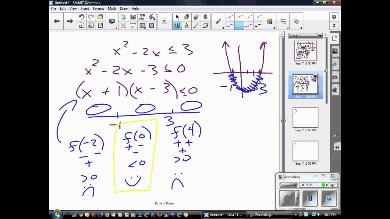 Solving non-linear inequalities - YouTube