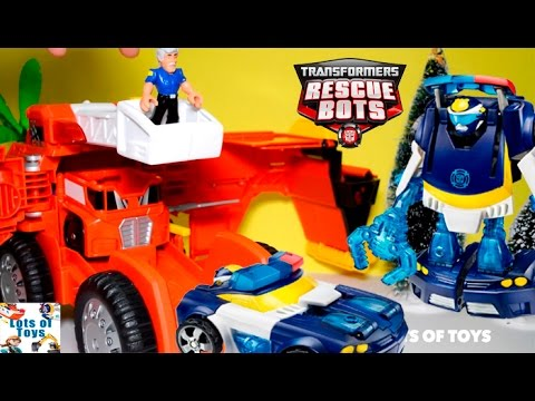 Transformers Rescue Bots Lots of Toys!! Capture Claw Chase, Giant Mobile Headquarters, Rescue Drill