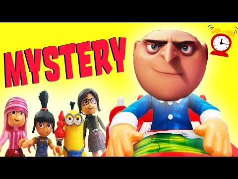 Dont Wake Daddy Gru Mystery Game Clue Episode w Minions, Blind Bags, Learn Colors & Numbers!