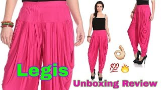 Legis Unboxing Review II Legis Relaxed Comfortable Cotton Blend Dhoti Pants Yoga Fitness Active Wear