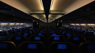 Airplane Cabin White Noise 3Hrs ..:: BLACK SCREEN ::.. (Airbus A330-200) ★Meditation ★Sleep ★ASMR