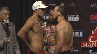 Sergey Kovalev vs Nadjib Mohammedi full video - Full Weigh In & Face off video