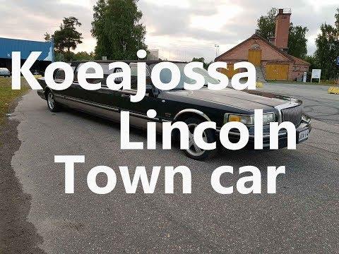 Koeajossa Lincoln Town Car Limusiini!