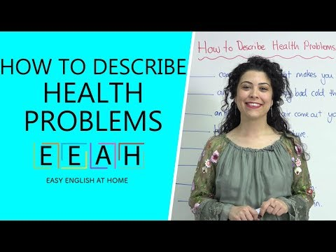 Elementary English #22: How to Describe Health Problems | Easy English at Home
