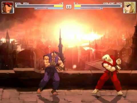 Evil Ryu Vs Violent Ken (REMACH)