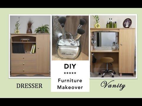 DIY | FURNITURE MAKEOVER: Dresser to Vanity Transformation