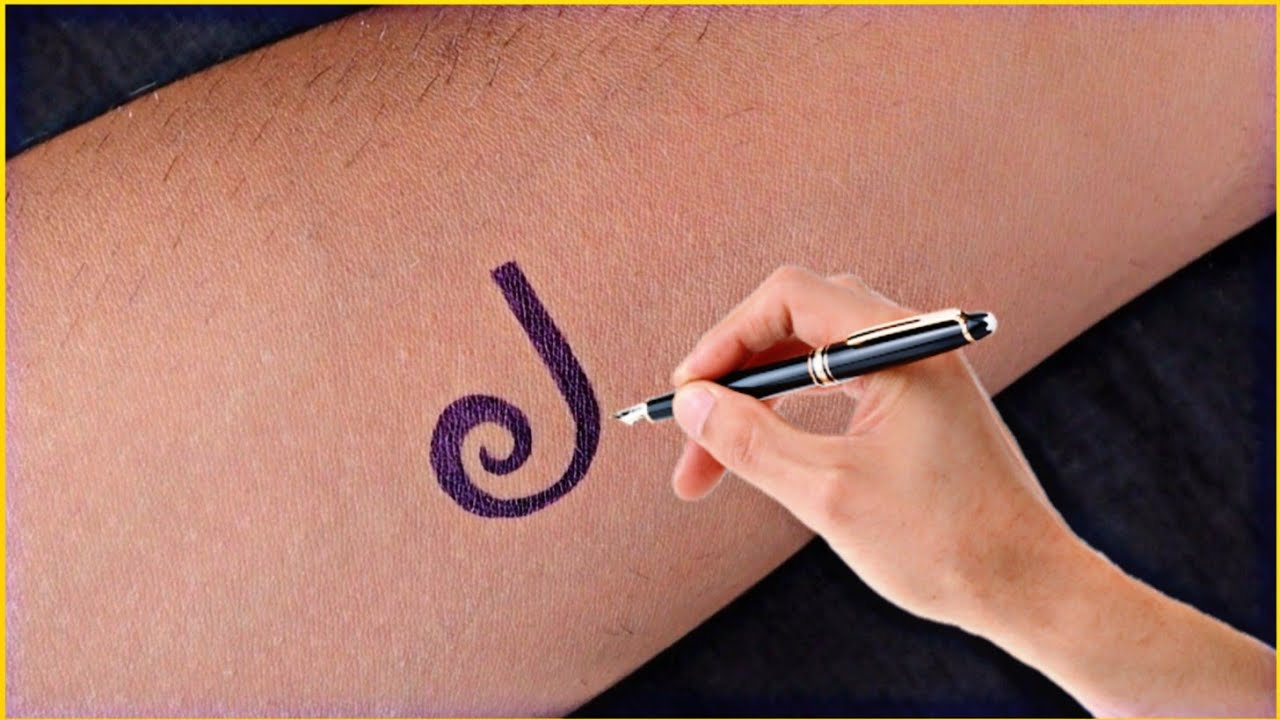 How to make beautiful m & p letter tattoo designs with pen at home