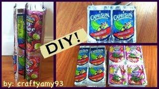DIY Caprisun Book Cover & Pencil Pouch (Back to School)