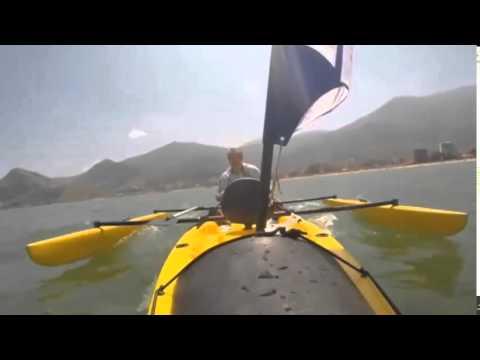 2ca6b2ef3 CAIAQUE TRIMARAN ORCA SAILER ROTOMOLDADO - YouTube