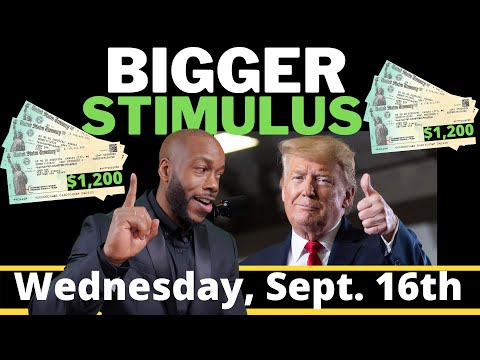 BIGGER!!  Second + Third Stimulus Check Update: $1200 STIMULUS PACKAGE UPDATE Unemployment Benefits