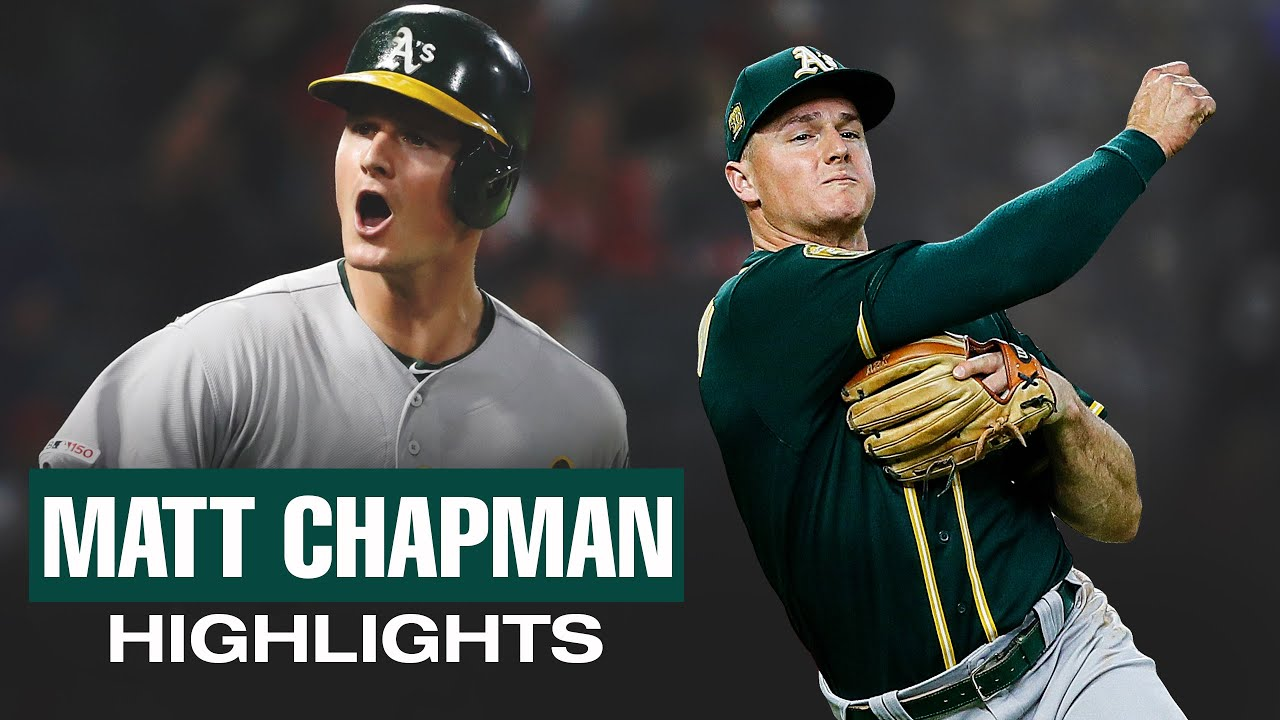 Matt Chapman - Top Highlights from 2018 + 2019 (Athletics 3B is a beast in field and at plate!)