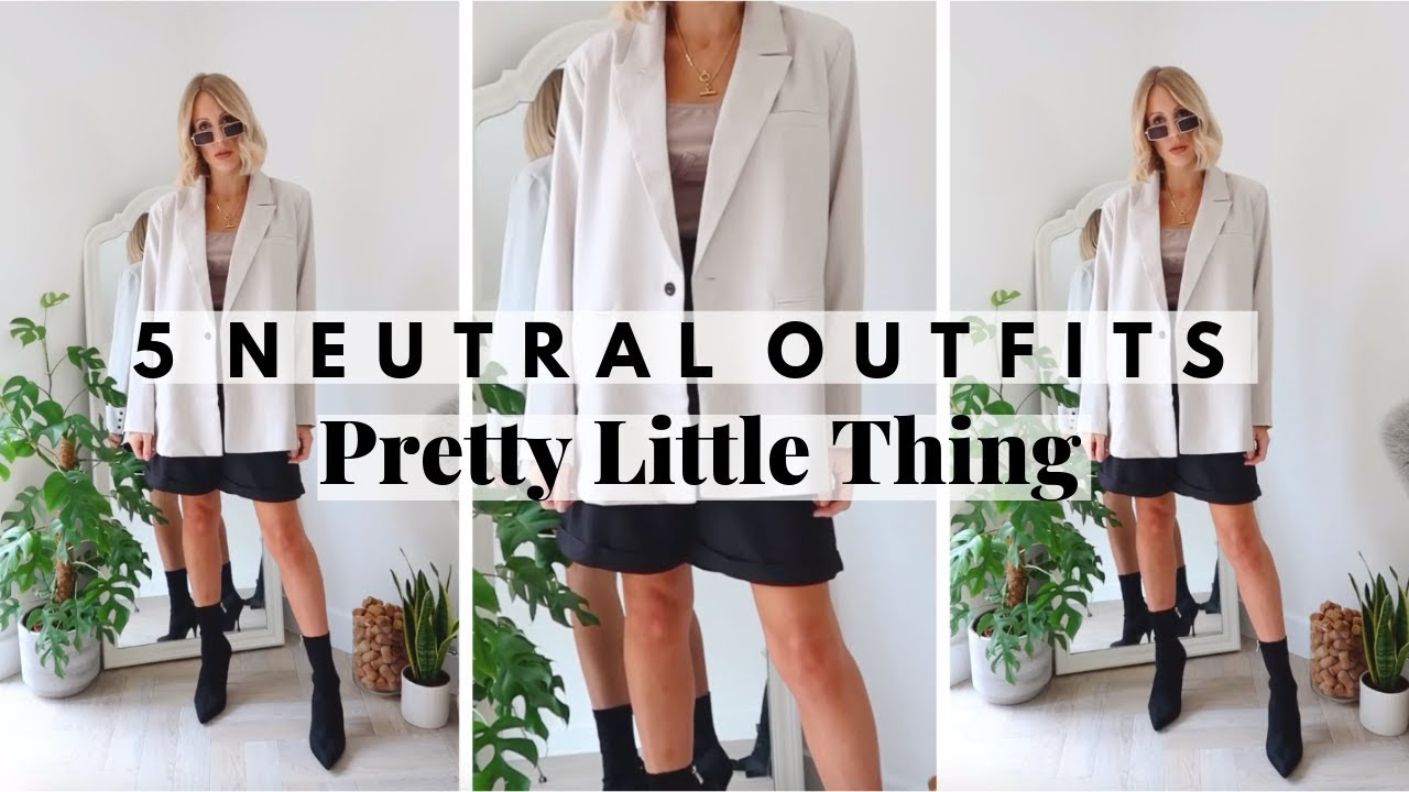 5 PRETTY LITTLE THING NEUTRAL OUTFITS | Fall/Autumn Outfit Ideas - Styling casual everyday outfits 6