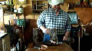 Cowboy Jef Showing How To Put Spurs On