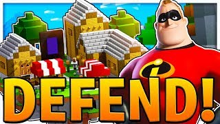 THE INCREDIBLES SUPERHERO MOVIE TOWER DEFENSE - MINECRAFT MODDED MINIGAME