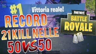 RECORD MONDIALE su FORTNITE! 21 KILL nelle 50VS50 (In DUE!) Quasi metà MAPPA! | Fortnite ITA