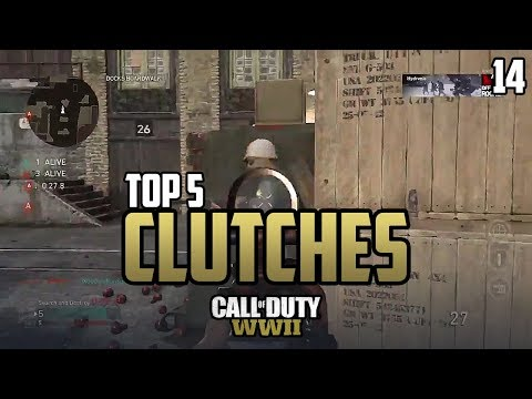 COD WWII: TOP 5 CLUTCHES OF THE WEEK #14 - Call of Duty World War 2 thumbnail