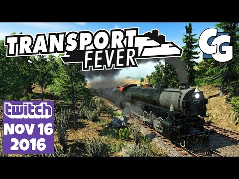 Transport Fever Gameplay - Twitch VOD - 2016-11-16 - Fresh Map on 4x Slower Speed