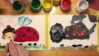 БОЖЬЯ КОРОВКА. Рисование для малышей. Рисуем с Илюшей