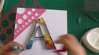 quilling letter A  /  quilling paper