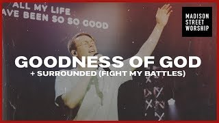 Goodness of God + Surrounded (Fight My Battles) | Corey Voss | Worship Moments