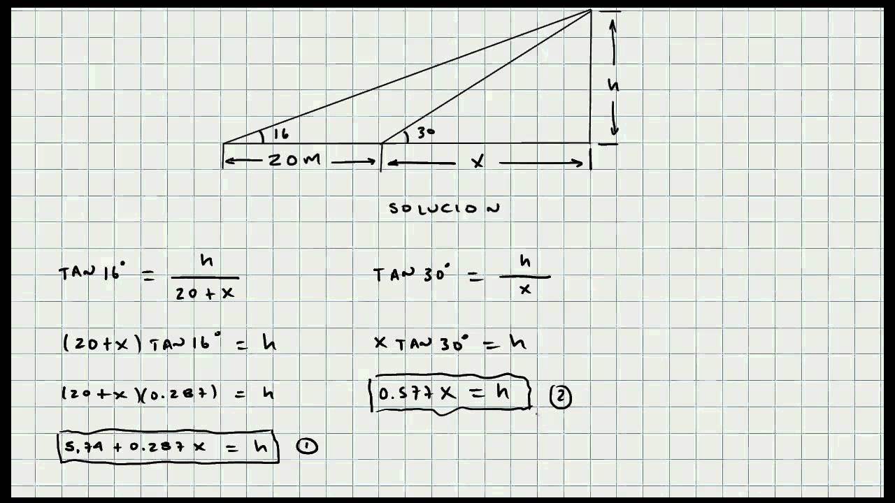 Ejercicio Solucion de Triangulos - Trigonometria - Mi Profesor de ...