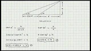 Ejercicio Solucion de Triangulos - Trigonometria - Mi Profesor de Matematicas - Video 049