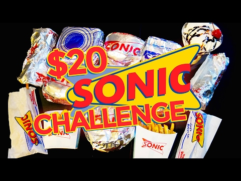 SONIC $20 VALUE MENU CHALLENGE!!