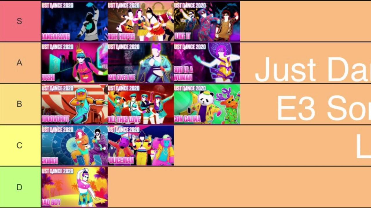 List Of E3 2020 Games.Just Dance 2020 E3 Songs Tier List