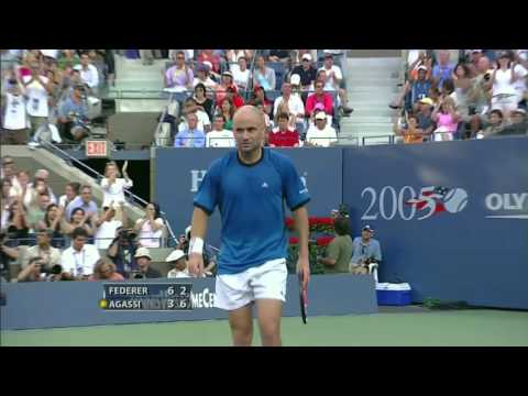 US Open 2005: Federer - Agassi (Final) Highlights