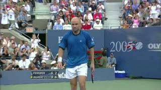 US Open 2005: Federer - Agassi (Final) Highlights