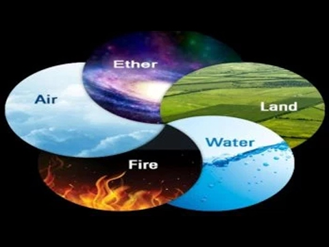 5 great elements According to vedic science, when spirit (purusha in sanskrit) takes form as life it is called prakritiprakriti is made up of five elements from finest to grossest: space, air, fire, water and earth.