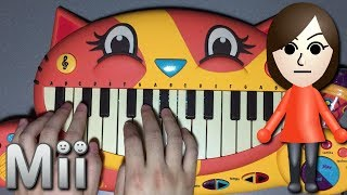 Mii Channel Theme but it's played on a CAT PIANO!