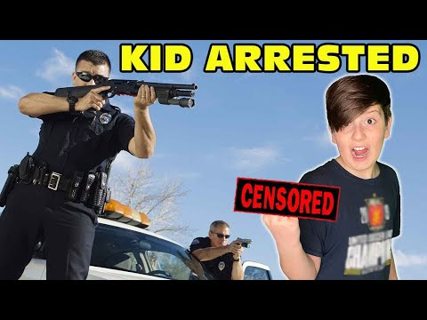 Kid Flips Off Police And Gets Arrested! - Mom Cries! [Original]