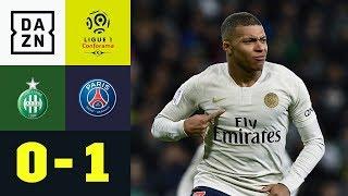 Akrobatischer Kylian Mbappe rettet den Sieg: AS St. Etienne - Paris St. Germain 0:1 | Ligue 1 | DAZN