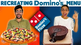 We Made DOMINO'S Menu At Home 😱    And It Was Like.... 🤢🤮