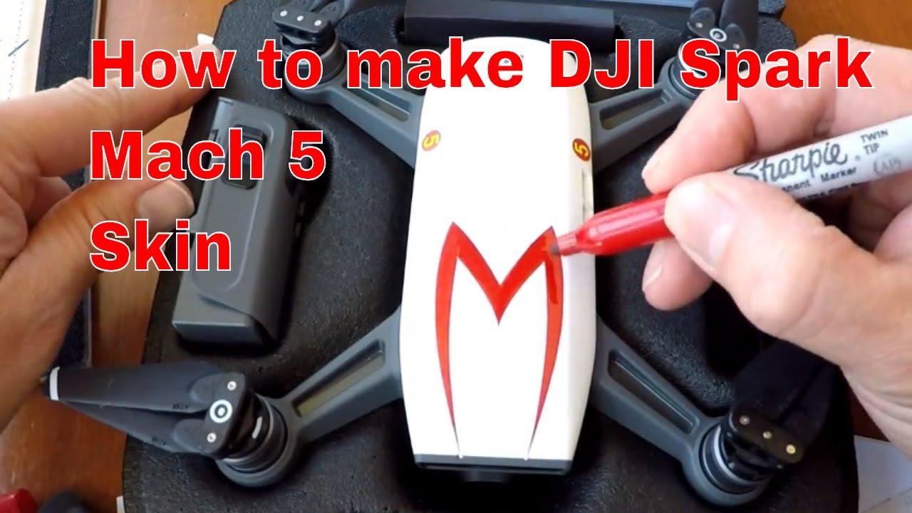 Dji spark speed racer mach 5 body template paint
