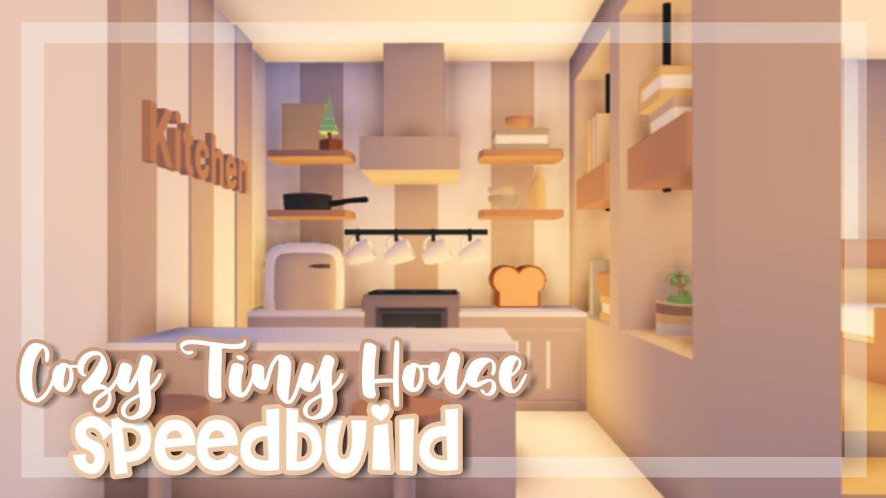 Cozy Tiny House Speedbuild Adopt Me Speedbuild Adopt Me Youtube