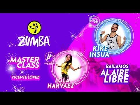 Kike Insua Lola Narvaez Masterclass Zumba en Vicente Lopez