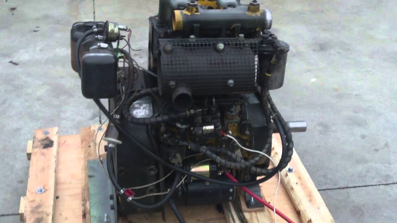 Hatz Z790 2 Cylinder Diesel Engine Test Run