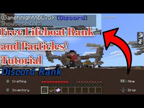 How To Get Discord Rank On Lifeboat!