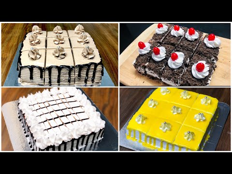 4 Easy Pastry Recipes | Pastry Cake Recipe | Easy Cake Recipe