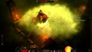 """Diablo 3 - Bárbaro matando Ghom, sem o cheat do """"golpe brutal"""""""