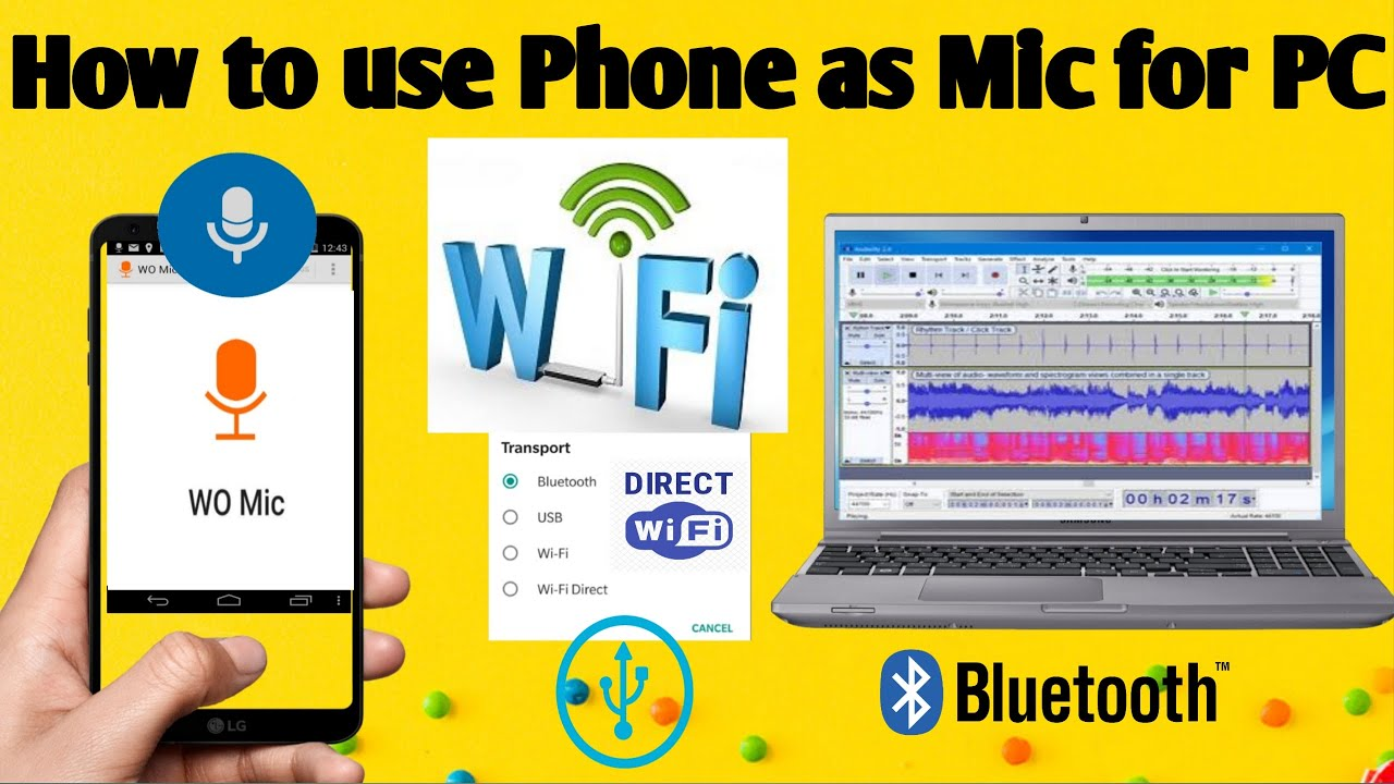 How To Use Phone As Mic For Pc Use Mobile As Microphone On Pc Phone As Mic How To Use Wo Mic Youtube