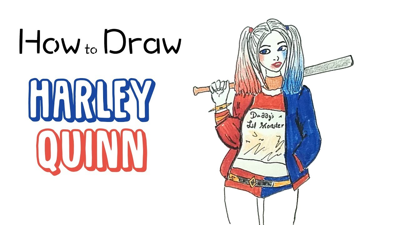 How To Draw Harley Quinn Youtube