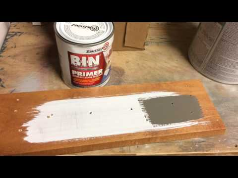 Primer test for Kitchen Cabinet Painting - Salisbury MD
