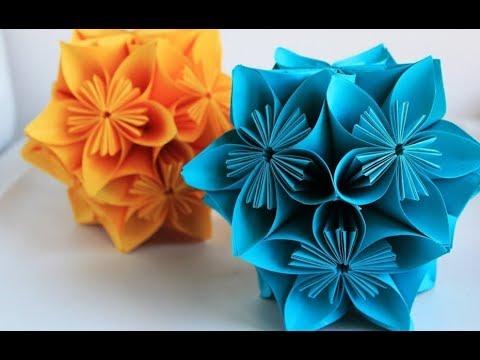 Ide Kreatif Membuat Bunga Dari Kertas Origami Handcraft Youtube