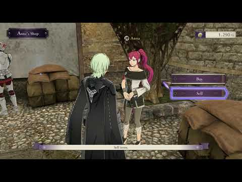 Fire Emblem Three Houses - Chapter 17: Anna's Shop And Dark Merchant Items For Sale Gameplay (2019)
